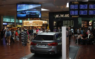 BMW Car Display in Copenhagen Airport